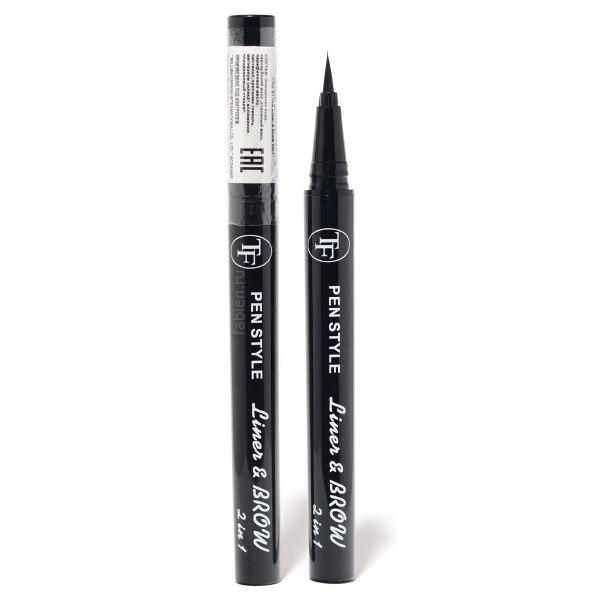 Подводка-фломастер для глаз и корректор для бровей Pen Style Liner & Brow 2in1