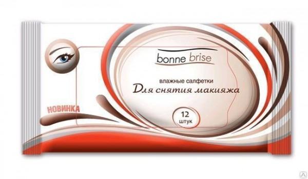 Влажные салфетки для снятия макияжа Bonne Brise