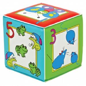 грушка кубик с пищалкой Учимся считать