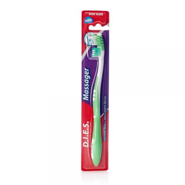 Массажная зубная щетка Диес мягкая