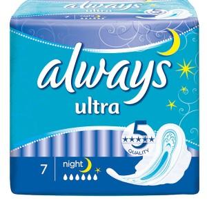 Прокладки Олвейс ночные 7 штук