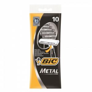 Одноразовые бритвенные станки Bic Metal, 10 шт
