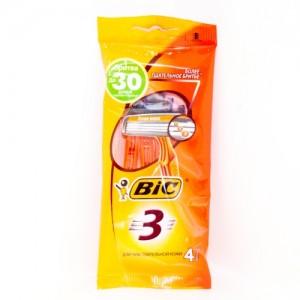 Бритва BIC 3 для чувствительной кожи 4 шт