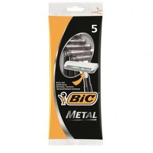 Бик Металл одноразовый станок для бритья 5 шт