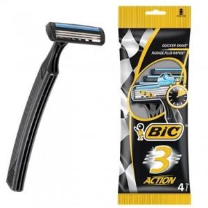 Бритва BIC 3 Action для чувствительной кожи, 4 шт