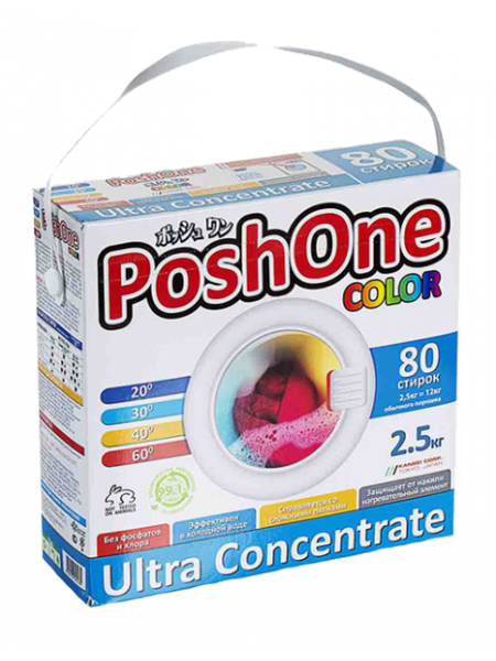 Posh One Концентрированный стиральный порошок для цветного белья 2,5 кг