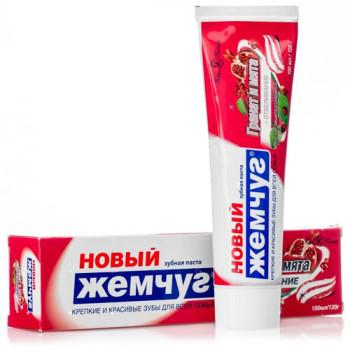 Зубная паста Новый жемчуг, 100 мл (вертикальная)
