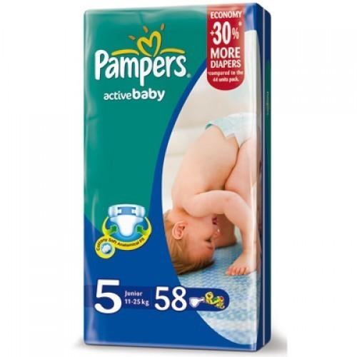 Подгузники Памперс Active Baby-Dry Джамбо упаковка