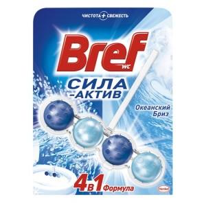 Подвеска для унитаза Бреф 4 в 1 Сила актив, 50 гр (шарики)