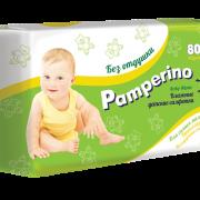 Памперино салфетки влажные для детей без отдушки, 80 шт