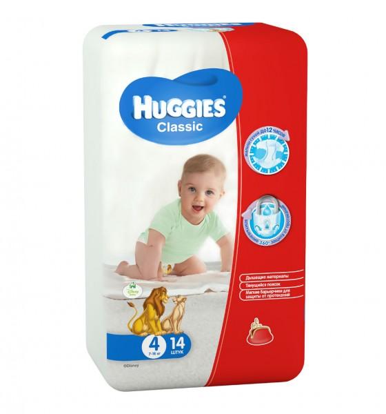 Хаггис подгузники Классик Смол 4 (7-18 кг), 14 шт