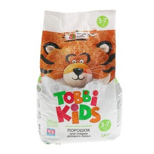 Тобби Кидс детский стиральный порошок от 3 до 7 лет, 2,4 кг
