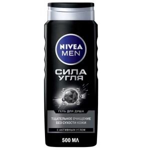 Гель Сила угля очищение для душа, без сухости кожи, Nivea Men 500 мл