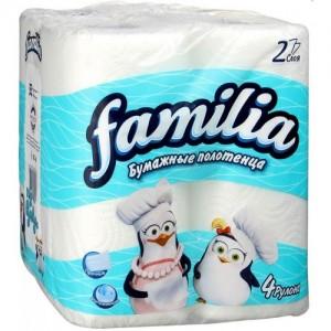 Двухслойные бумажные полотенца Фамилиа (Familia)