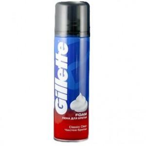 Жиллетт (Gillette) пена для бритья (Чистое бритье) 200 мл