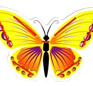 Деревянная бабочка - игрушка-шнуровка