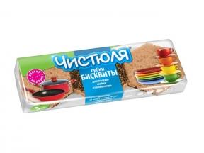 Чистюля БИСКВИТ губки д/посуды 3 шт