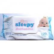 Детские влажные салфетки с клапаном Sleepy, 120 шт