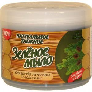 Зеленое мыло для ухода за телом и волосами для бани и душа, 450мл
