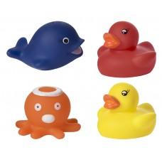Набор игрушек для ванны меняющих цвет Веселое купание 4 шт