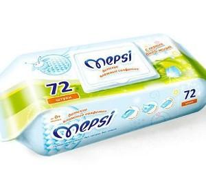Mepsi Детские влажные салфетки, 72 шт