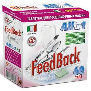 Таблетки для посудомоечных машин FeedBack (Фидбэк) Таблетки All in 1, 60 шт