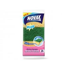 Губки кухонные Novax Maxi Foam Plus 3 шт