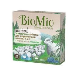 Био Мио таблетки экологичные для посудомоечной машины с эф. маслом Эвкалипта 30 шт.