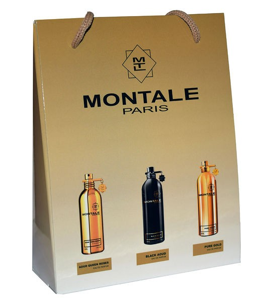 Набор сумочка Montale (Монталь) 3 шт по 15 мл (Aoud Queen Roses Black Aoud Pure Gold)