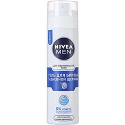 Гель для бритья Нивея 3-ех дневная щетина (Nivea) 200 мл