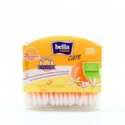 Ватные палочки Белла (bella) 100% хлопок 200 шт.пластиковая коробочка с Д-пантенолом и экстр. из цветка