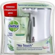 Диспенсер для антибактериального жидкого мыла Dettol, с запасным блоком, с ароматом зеленого чая и имбиря, 250 мл