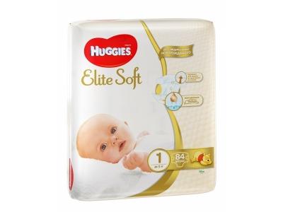 Huggies Elite Soft 1 84 шт до 5 кг (Хаггис Элит Софт) подгузники в Севастополе с бесплатной доставкой на дом.
