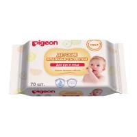 Pigeon Детские влажные салфетки для рук, рта, пустышек и игрушек (70 шт)