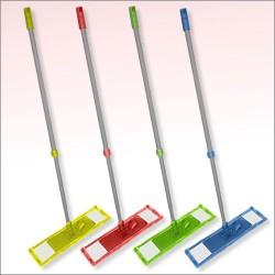 Швабра Ни пылинки с телескопической ручкой 4 цв.