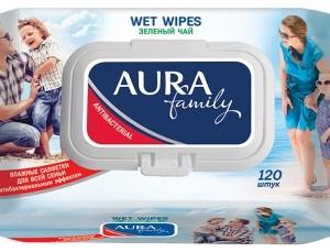 Аура влажные салфетки для всей семьи 120 шт (Aura) с клапаном