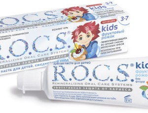 Зубная паста Рокс (Rocs) фруктовый рожок 3-7 лет 45 г