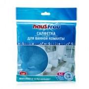 Салфетка Haus Frau из микрофибры повышенной впитываемости для ванной комнаты, 1 шт (Хаус Фрау)