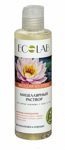 Мицеллярный раствор ЭкоЛаб (Ecolab) для снятия макияжа с лица и глаз 200 мл