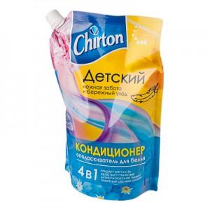 Детский кондиционер для белья 4в1 Чиртон (Chirton), 750 мл. Используются при последнем полоскании белья и других изделий из ткани во всех видах стиральных машин и при ручной стирке. Обеспечивают бережный уход за волокнами тканей, подходят для всех видов натуральных и синтетических тканей, придают им мягкость и свежесть, облегчают глажение. Обладают антистатическим эффектом. Линейка из трёх удивительных, нежных и ярких ароматов на любой вкус! Современная и оригинальная упаковка дой пак.