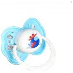 Пустышка Малыши и Малышки 0+, силикон, скошенный сосок, кольцо, колпачок Lubby (Лабби)
