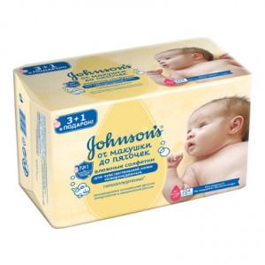 Салфетки влажные От макушки до пяточек без отдушки Джонсон Baby 0+