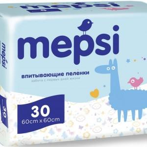 Пеленки впитывающие Mepsi 60*60 30 шт