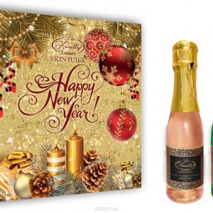 NY-1604 Шампанское набор Пихта-Малина (10шт) С НГ