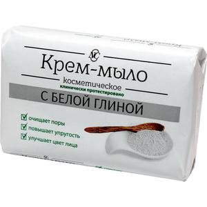 Косметическое крем мыло с БЕЛОЙ ГЛИНОЙ 90 гр
