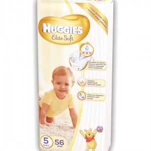 Хаггис Элит Софт 5 12-25 кг (56 шт) (Huggies Elite Soft)