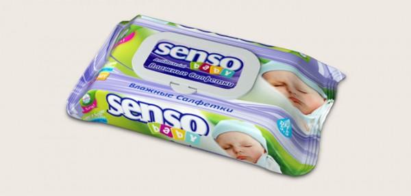 Сенсо Беби влажные салфетки с клапаном 72 шт (Senso Baby).