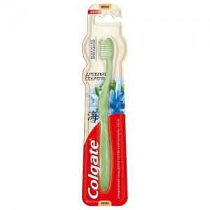 Отбеливающая зубная щетка Колгейт Древние Секреты Colgate (мягкая)