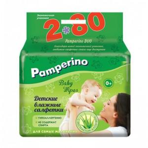 Памперино влажные салфетки (Pamperino) ДУО 160 шт 0+
