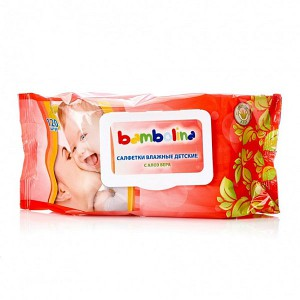 Бамболина детские влажные салфетки 120 шт (Bambolina) клапан